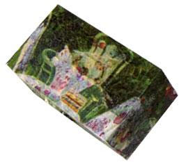 coffret décoré d'un motif impressioniste