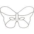 Imprimer le masque de papillon
