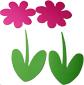 Découper les parties du porte nom fleur