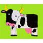 vache peinte