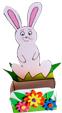 décorer la corbeille de Pâques
