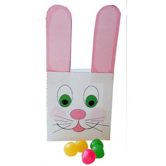 Boîte de Pâques tête de lapin