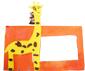 coller la girafe sur le cadre