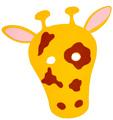 coller les tâches sur la girafe