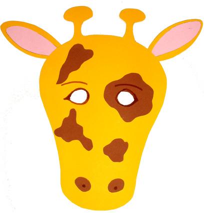 Coloriage Tete De Girafe A Imprimer.Masque De Girafe Masque Tete A Modeler