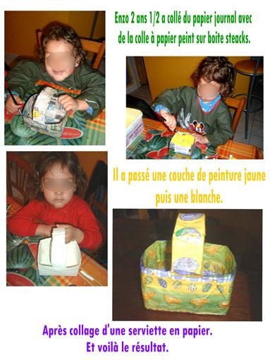 Instructions pour faire le panier de Pâques de Lucas