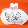 Pochette à cadeau à imprimer motifs fleurs