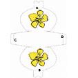 Imprimer le modèle de pochette à cadeau grosse fleur jaune