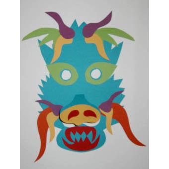 Masque dragon chinois