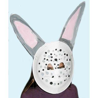 Masque de lapin aux grandes oreilles