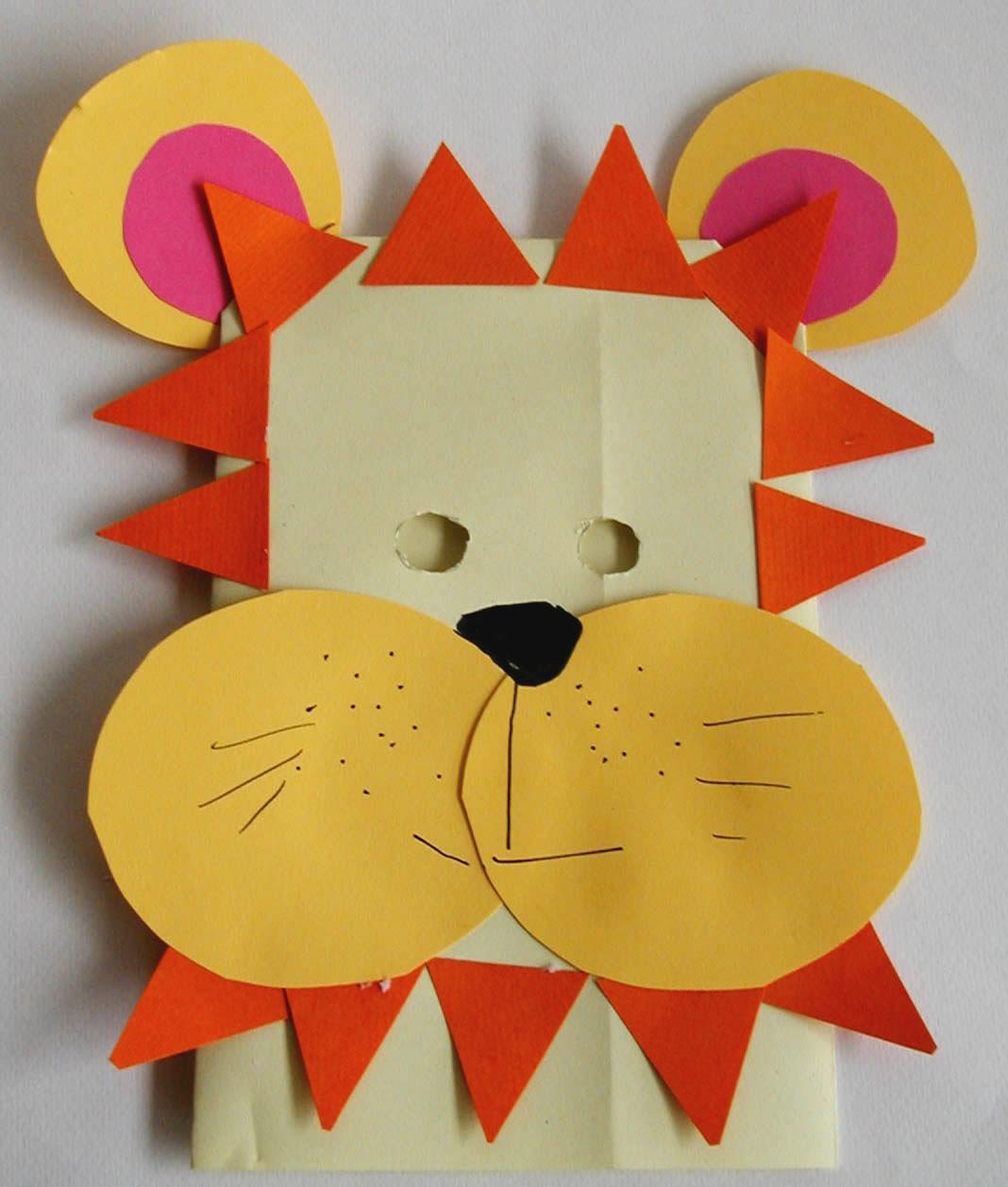 Fabriquer un masque g ant de lion avant 5 ans t te modeler - Comment faire des travaux manuels ...