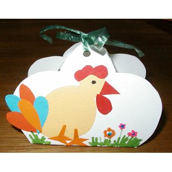 Pochette poule de Pâques