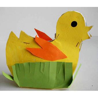 Fabriquer un poussin panier de Pâques