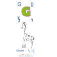 imprimer la girafe