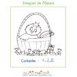 Corbeille de l'imagier de Pâques