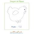 Poule de l'imagier de Pâques