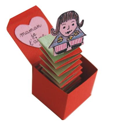 Bricolage Boite Jouet Jack In The Box Avec Message Je Taime Maman