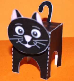 Paper Toy Chat A Coller Sur Tete A Modeler
