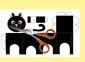 Découper le paper toy chat