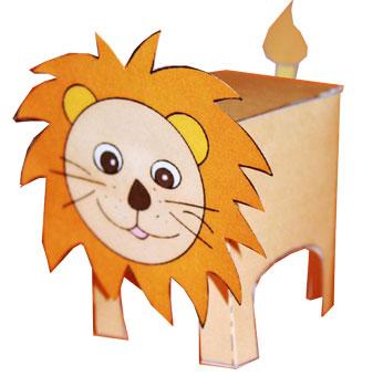 paper toy lion un paper toy d 39 animal sauvage sur t te modeler. Black Bedroom Furniture Sets. Home Design Ideas