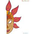 Imprimer le masque de Bali