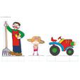 le fermier et le tracteur