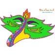 Masque paper toy oiseau vert