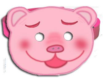 Masque de cochon rose imprimer pour se d guiser t te - Photo de cochon a imprimer ...