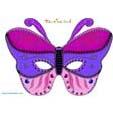 Masque papillon rose et violet