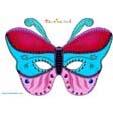 Masque papillon rose bleu