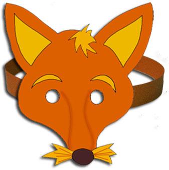 Masque de renard imprimer pour le d guisement t te modeler - Modele de loup a imprimer ...