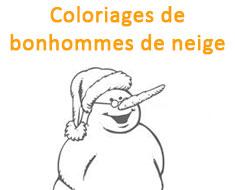 Coloriages de bonhommes de neige