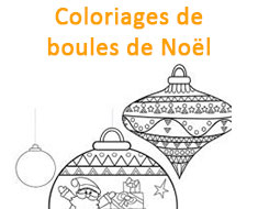 Coloriages de boules de Noel