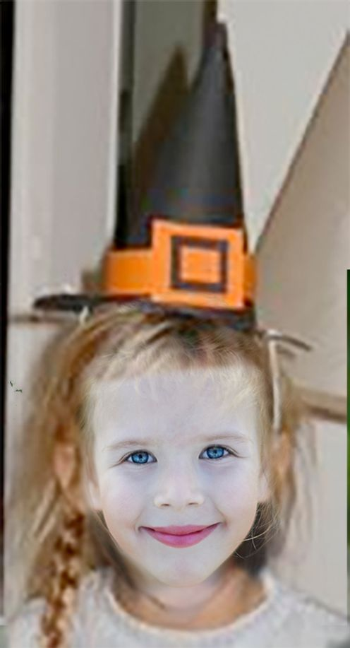 Connu Chapeau de sorcière noir et orange - Halloween Tête à modeler PE01