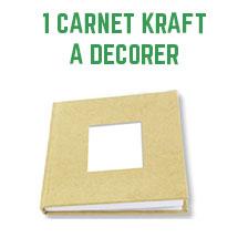 1 carnet Kraft