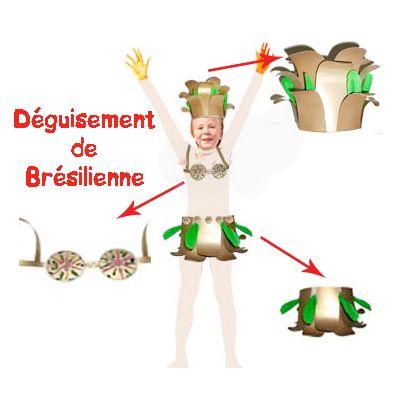 Déguisement de brésilienne