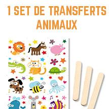 12 set de transferts animaux