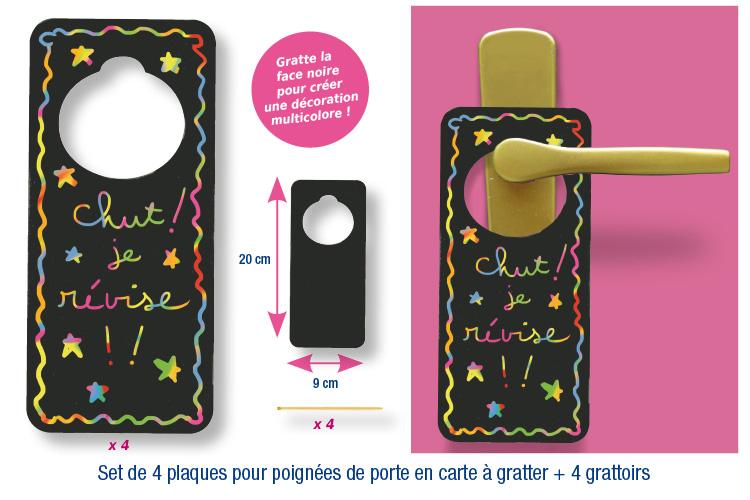 Plaque de porte en carte gratter carte gratter t te modeler - Ouvrir une porte avec une carte ...