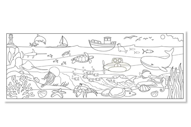 Coloriage Geant A Imprimer En Plusieurs Parties.Coloriage D Une Fresque Geante Sur La Mer