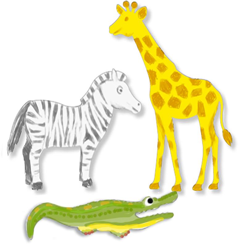 Coloriage animaux d'Afrique
