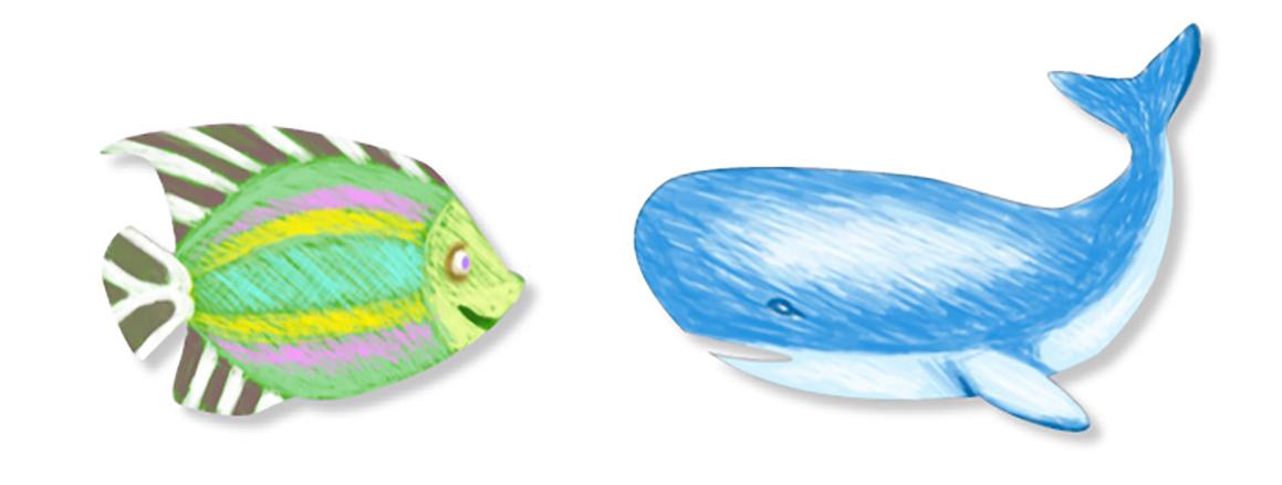 Colorier les autres animaux de la mer