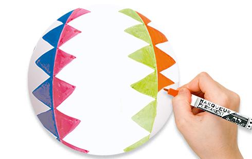 Dessiner sur le ballon
