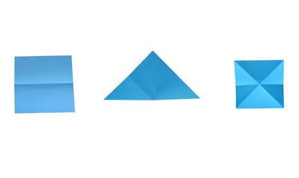 Plier et déplier un carré
