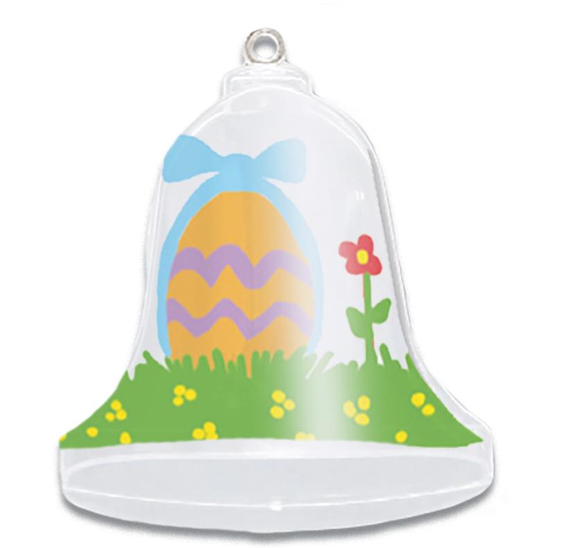 Cloche de Pâques en plastique décorée
