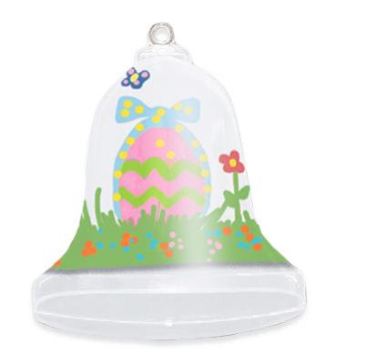 Cloche de Pâques décorée