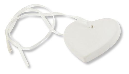 Médaillon coeur en céramique à décorer