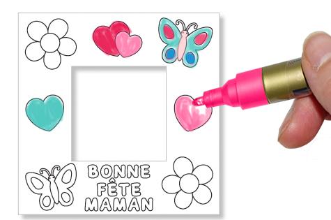 Coloriage du cadre photo pour maman