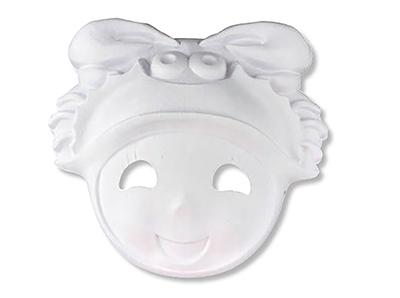 Masque en carton blanc à colorier
