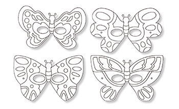 Coloriage d un masque papillon - Coloriage d un papillon ...