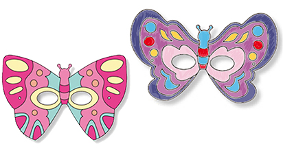 Colorier les masques de papillon